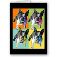 Boston Terrier Birthday Card from Zazzle.com
