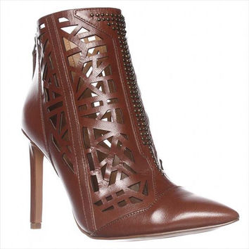 Nine West Toocute Cut-Out Pointed Toe Ankle Boots - Brown