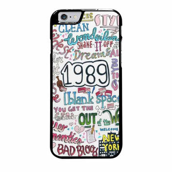 1989 taylor swift iphone 6 plus 6s plus 4 4s 5 5s 5c cases