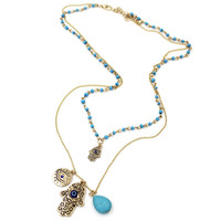 Christmas Thanksgiving Gift FATIMA Jewelry Stylish Shiny New Arrival Gift Accessory Pendant Vintage Turquoise Necklace [9210544708]