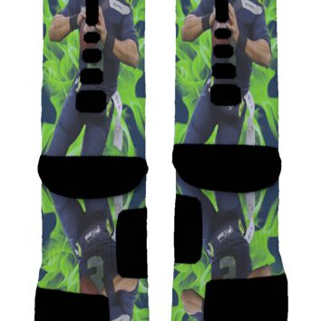 Russell Wilson Custom Nike Elite Socks