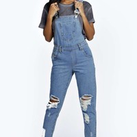 Amy Indigo Stone Wash Dungaree