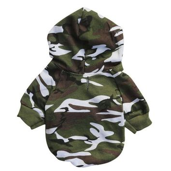 Winter Camouflage Sweatshirts Dog Clothes