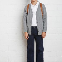 Boys School Uniform Heathered Cardigan (Kids)