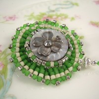 Irish Song - Antique Button Jewelry