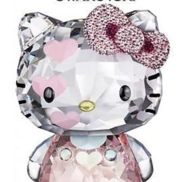 $600 Swarovski Crystal Figurine HELLO KITTY HEARTS 2012 #1142934 Box