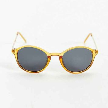 Translucent Orange Metal Arm Sunglasses- Orange One