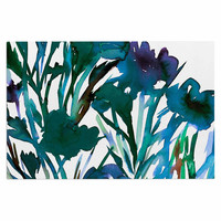 "Ebi Emporium ""Petal For Your Thoughts Teal"" Turquoise Green Decorative Door Mat"