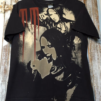 90s Black Marilyn Manson medium shirt