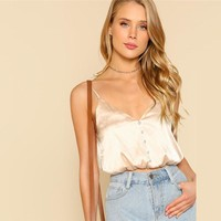 Satin Crop Top Cami