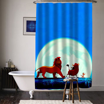 hakuna matata special custom shower curtains available size