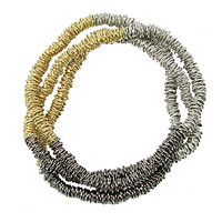 Metallic Stripe Necklace or Bracelet
