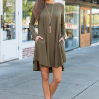 The Life For Me Dress, Olive