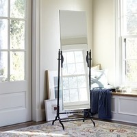 Frameless Pivoting Floor Mirror - Traditional - Floor Mirrors - by Pottery Barn