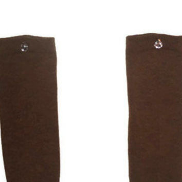 One Size Pear Crystal Colored Brown Knee High Womens Socks