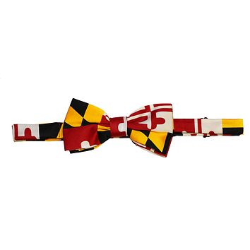 Maryland Flag / Pre-Tied Bowtie