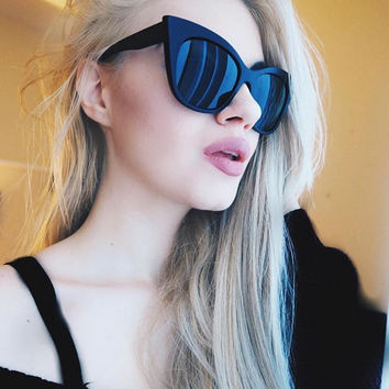 Black Sleek Modern Love Super Chic Cat Eye Sunnies