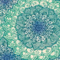 Emerald Doodle Stretched Canvas by Micklyn | Society6