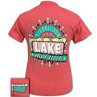 Girlie Girl Originals Preppy Love You To The Lake And Beach T-Shirt