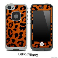 Orange Cheetah Skin for the iPhone 5 or 4/4s LifeProof Case
