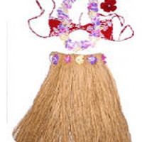 Grass Skirt Set, Natural