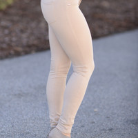 Perfect Fit Jeggings Light Khaki
