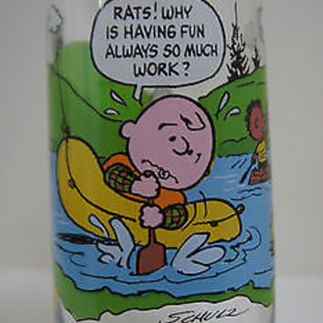 Camp Snoopy Collection 6 inch Collectible Drinking Glass from McDonald's, 1968
