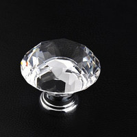 Chic Glass Drawer Knobs / Clear Crystal Knob / Drawer Knobs / Dresser Pulls Handles / Kitchen Cabinet Knob Decorative Hardware  L06