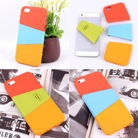 multicolor diy Three color mix case for iphone 4/4s