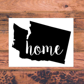 Washington Home Decal | Washington Decal | Homestate Decals | Love Sticker | Love Decal  | Country Decal | Car Decal | Car Stickers | 139