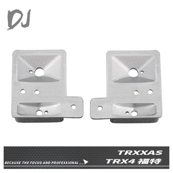 DJ 2PCS Metal Headlight Cup Front Light Cover for 1/10 RC Crawler Traxxas TRX-4  bronco  Ford  NEW