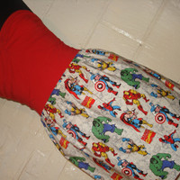Large Character Print Marvel Mini Skirt w/ Hulk, Captain America, Spiderman, Iron Man, Wolverine -  High Waisted Ladies Skirt