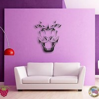 Wall Sticker Tiger Roar Jungle Animal Cool Decor for Living Room Unique Gift z1346