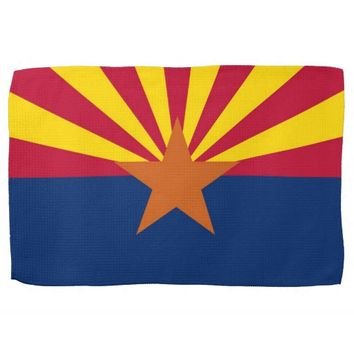 Kitchen towel with Flag of Arizona, U.S.A.
