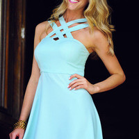 HOPE'S: Can't Get Past Me Dress: Mint   Hope's