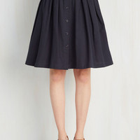A-line Living the Dream Skirt in Navy