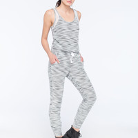 Miss Chievous Boucle Womens Jumpsuit Grey/White  In Sizes