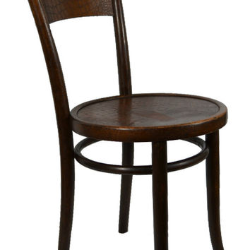 Bentwood Thonet Chair with Crocodile Skin Imitation