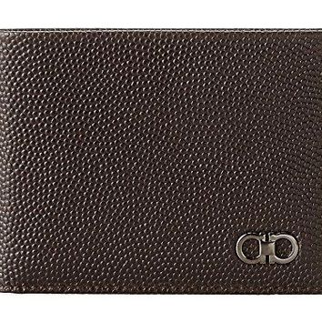 Salvatore Ferragamo Men's Ten Forty One Bifold Wallet Chocolate Wallet