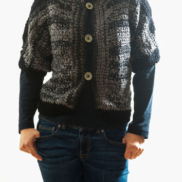 LVO-128 Reversible Waist Jacket-Hand Crochet-Ready to Ship