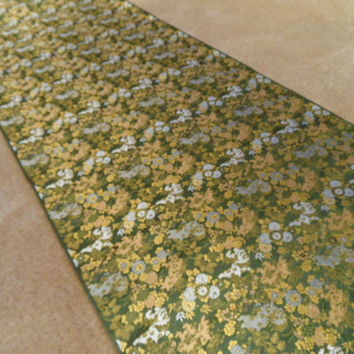 "Fabulous Japanese Oriental Silk Brocade Foo Dog Floral Fabric 164"" (4.5 yds)"