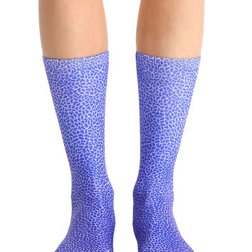 Pebble Violet Crew Socks