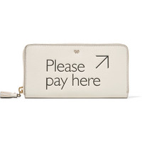 Anya Hindmarch - Please Pay Here textured-leather continental wallet