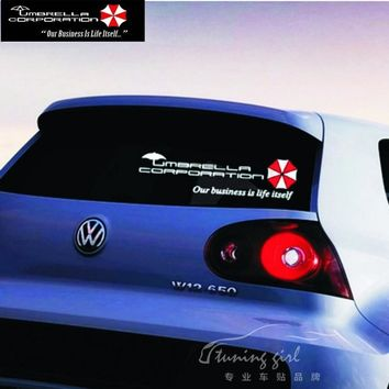 Car Stickers Resident Evil Umbrella Corporation Creative Decals For Rear Windshield Waterproof Auto Tuning Styling D20