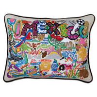 Mexico Hand Embroidered Pillow