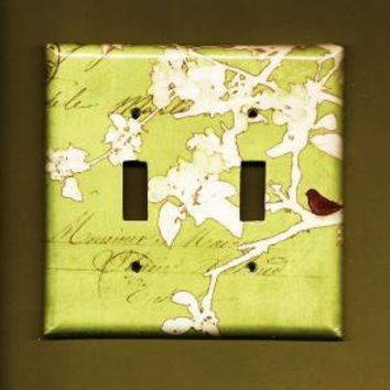 Little Sparrow Switchplate cover by TurnMeOnArt on Etsy