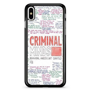 Criminal Minds iPhone X Case