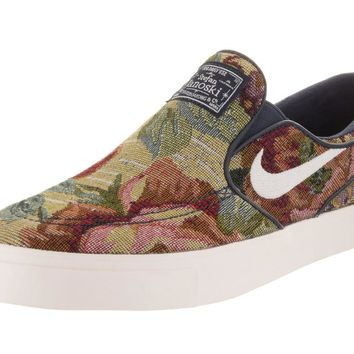 Nike Men's Zoom Janoski Slip Cnvs Prm Skate Shoe Multi-color/White/Ivory 10 D(M) US '