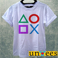 Game Playstation Controller PS2 PS3 Women T Shirt