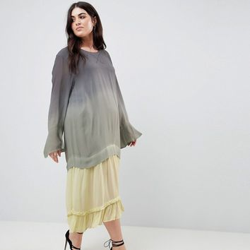 Religion Plus Maxi Dress In Dip Dye at asos.com